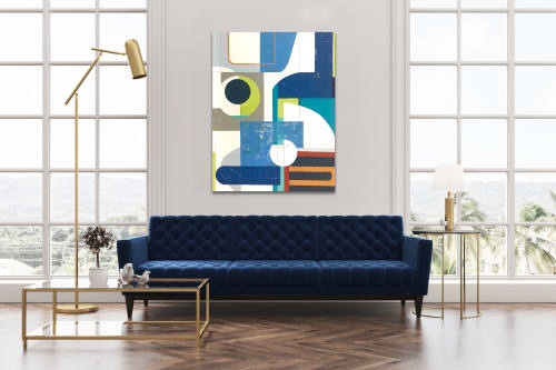 Paintings by TS ModernArt Studio seen at Private Residence, Manhattan Beach - Catch you on the Flipside