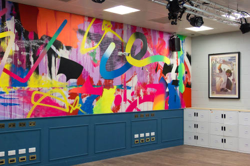 Murals by Ben Allen Studio seen at NME Magazine, London - N.M.E. Magazine