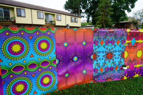 Street Murals by Jenie Gao Studio seen at Bayview Foundation, Inc., Madison - Patterns of Bayview