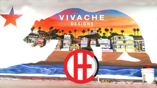 Murals by VIVACHE DESIGNS seen at Bellwether Asset Management, El Segundo - Custom Murals