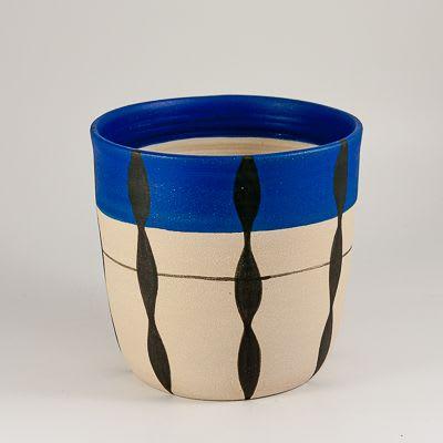 Stoneware 'Foliage' plant pot   Plants & Flowers by Kyra Mihailovic Ceramics