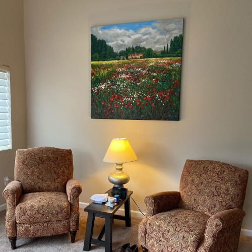 Paintings by Jennifer Vranes Fine Art seen at Ardiri Winery & Vineyards, Cornelius - Painting Collections