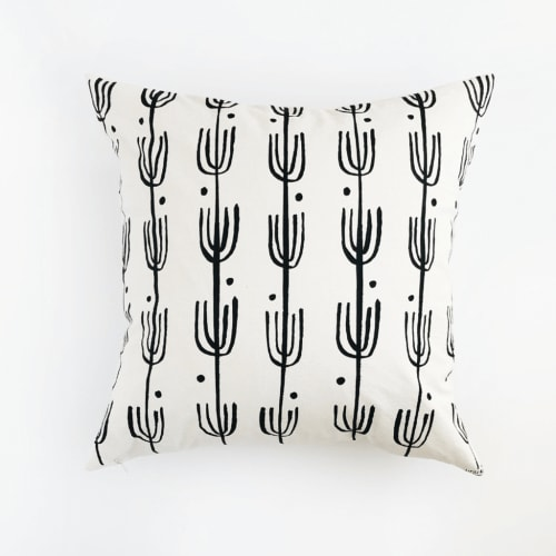 Pillows by Little Korboose seen at Echo Ranch House, Joshua Tree - Saguaro | Organic Cotton Pillow