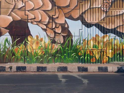 Street Murals by Anat Ronen seen at Bhubaneswar, Bhubaneswar - The pangolin