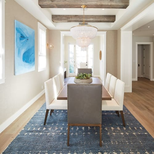 Paintings by Laura Schuler seen at Private Residence, Manhattan Beach - Blue