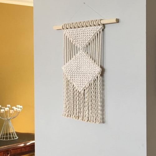 Macrame Wall Hanging by Stefanie Yoselle seen at Private Residence - Macrame Wall Art
