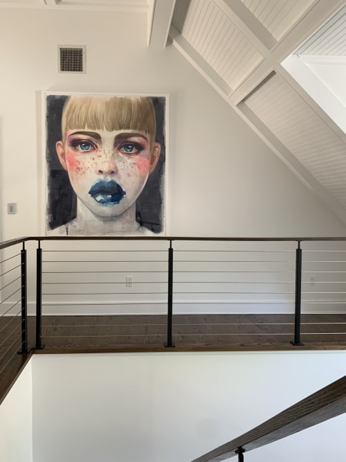 """Paintings by Roldan Lauzan Studio seen at Private Residence, Bedford - FROM THE SERIES """"ALICE"""""""