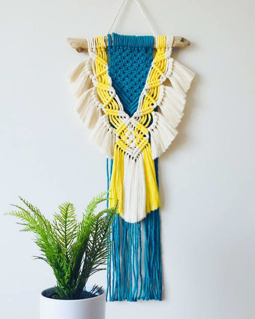 Macrame Wall Hanging by Peachlady Crafts seen at Private Residence, Charlotte - Celia Wang