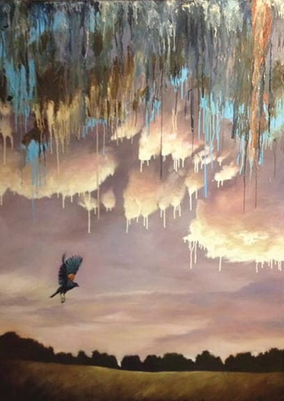 Paintings by The Art of Adam Thomas at Private Residence, Chicago - Bye Bye Blackbird
