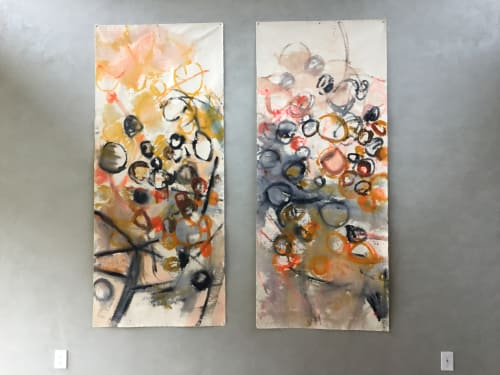 "Paintings by Caroline Wright at Private Residence, Austin - ""Running Through"""