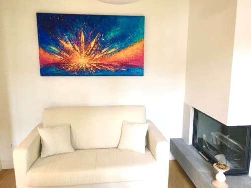 Paintings by Alicent Art seen at Private Residence - Positive energy