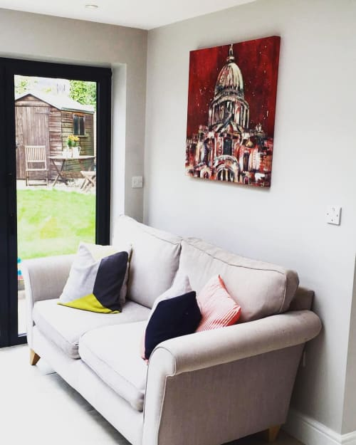 Paintings by Anna-Louise Felstead seen at Private Residence, London - St. Paul's Cathedral painting