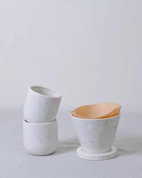Cups by Stone + Sparrow seen at Creator's Studio, Pittsburgh - Speckled Tumblers