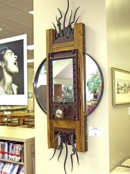 """Art & Wall Decor by paul hill sculpture seen at William Madison Randall Library, Wilmington - """"UNCW Library Mirror"""""""