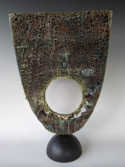 Sculptures by Michael and Leah Foushee Waller seen at Private Residence - Michael Waller Reaction Iron Casting