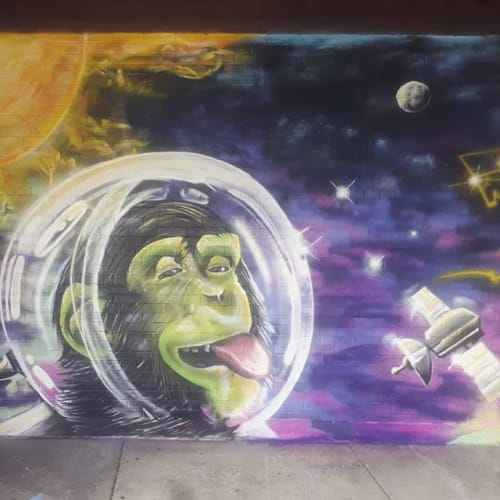 Murals by Magic F WonG seen at Rexdale, Toronto - Thistletown Community Centre