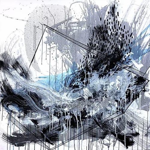"""Paintings by Kristen Elizabeth Art seen at Private Residence - """"Splash"""" Painting"""