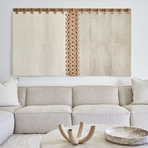 Wall Hangings by Moses Nadel seen at Private Residence, Bridgehampton - Vertebrae Tapestry X