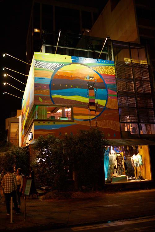 Street Murals by Kajaman seen at Redley - Ipanema, Ipanema - Obra: Terra de deuses - feita 100% em spray