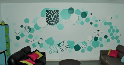 Murals by KIARA seen at Mougins, Mougins - Collaborative painting