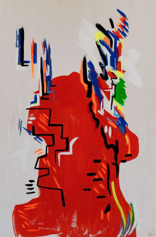 Paintings by Ali Beletic seen at Inn at the Ruin, Joshua Tree - Vivid Mythos by Artist Ali Beletic