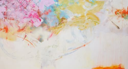 Paintings by Carolina Alotus seen at Private Residence, Protaras - Hopefully Someday...  -Abstract painting