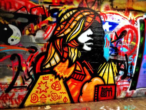 Street Murals by Alloyius Mcilwaine Art seen at Krog Street Northeast, Atlanta - Kroger St Tunnel muse