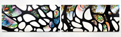 "Murals by Peter D. Gerakaris Studio seen at Google NY, New York - ""Ventana 2.0 - Eden & Babylon"" - Google NYC"