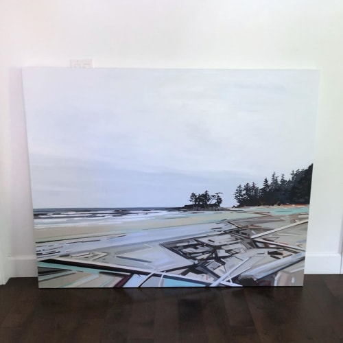 Paintings by Fiona Dalrymple seen at Beachology, Cowichan Bay - Beach