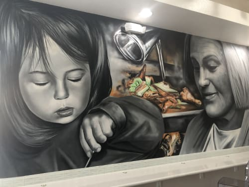 Murals by XOLAKA seen at Private Residence, Las Vegas - GENERATIONS
