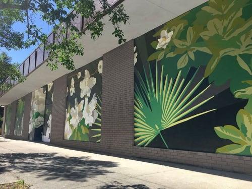 Street Murals by Kipper Millsap seen at Private Residence, Savannah - Savannah Flora