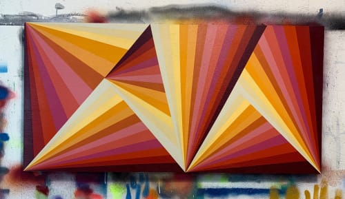 Paintings by Lady Henze Art seen at SoMa, San Francisco - Fruit Stripe Painting