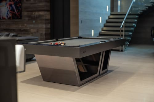 Tables by 11 Ravens seen at Private Residence, Malibu - The Titan Billiards Table