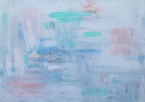Paintings by Jacqueline deMontravel seen at Private Residence, East Hampton - Gerard Point