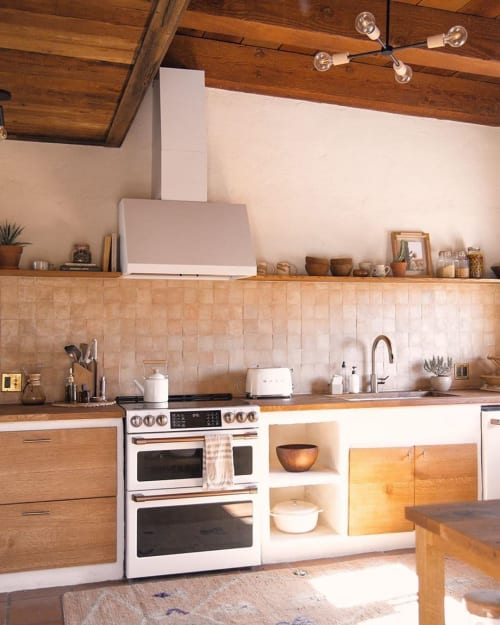 Tiles by Zia Tile seen at Posada by the Joshua Tree House, Tucson - Unglazed Natural Zellige