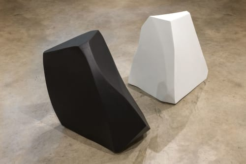 Sculptures by Dameon Lester seen at grayDUCK Gallery, Austin - A Rock of Stöðvarfjörður