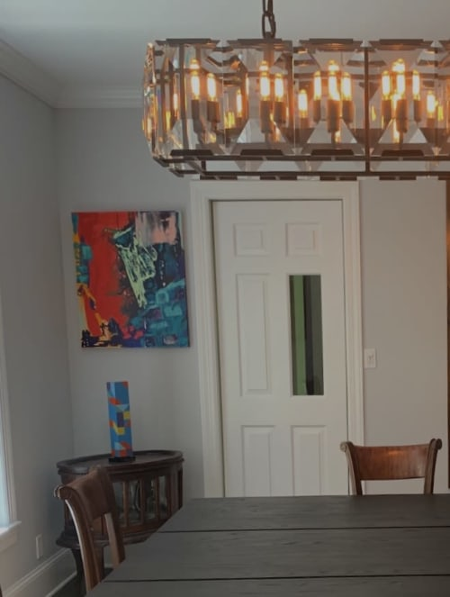 Paintings by Anelisa Calmet Studio seen at Private Residence, Greenwich - Moray