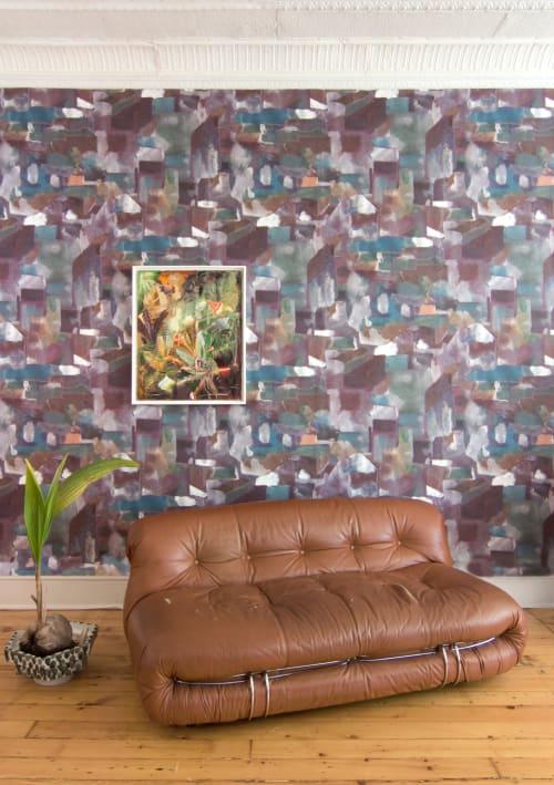 Wallpaper by Eskayel seen at Private Residence, New York - Medina - Tesoro Wallpaper