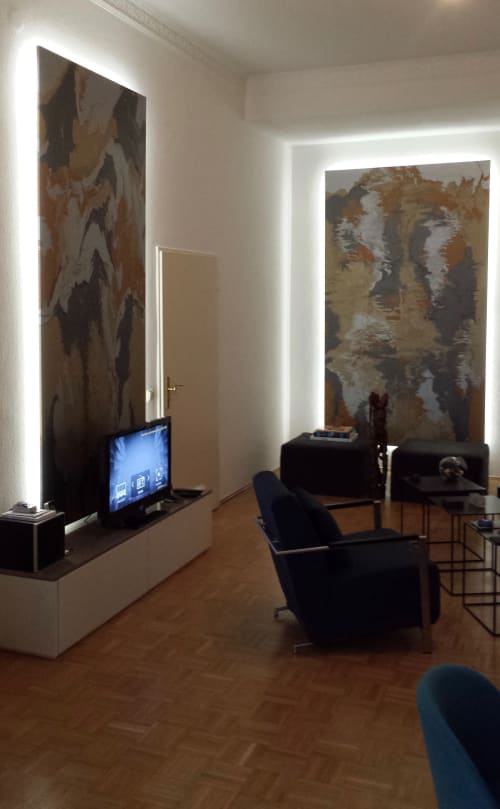 Interior Design by Peter Vial seen at Private Residence, Berlin - Wall panels