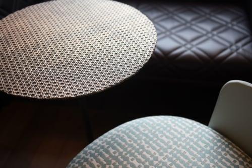 Tables by Irene Maria Ganser seen at Hotel Motel One Linz-Hauptplatz, Linz - Emilie color