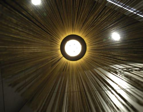 Lamps by Fambuena seen at Jose Peluqueros' hall, Castellón de la Plana - Swing Lamp