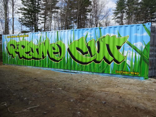 Murals by Jared Goulette | The Color Wizard seen at Buxton, Buxton - Prime Cut Lawn Care & Landscaping exterior Mural