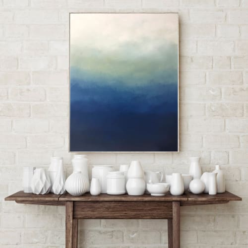 Paintings by Nicolette Atelier seen at Creator's Studio, Washington - Abstract Blue Ombre