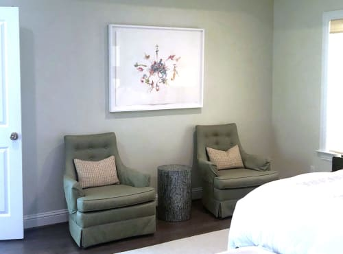 """Paintings by Emma Balder seen at Private Residence, Dallas - """"Magnet of Hope"""" Fiber Painting"""
