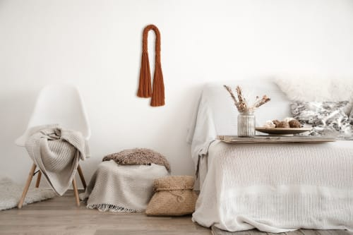 Macrame Wall Hanging by YASHI DESIGNS seen at Private Residence, Anchorage - Mid-century Wall Arch With Fringe - Arya