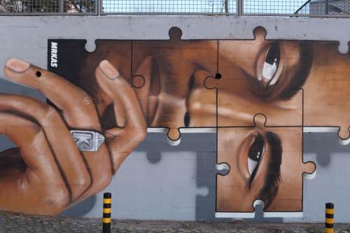 Murals by MrKas seen at Porto, Porto - Bob Marley tribute