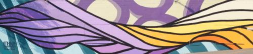 Street Murals by Strider Patton seen at 27th Street, Oakland, Oakland - Creative Growth Flow