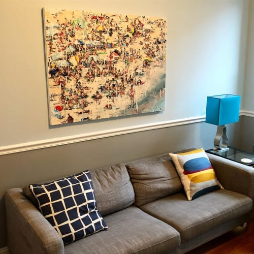 Paintings by Chrissy Angliker seen at Private Residence, Brooklyn - Testing the Waters