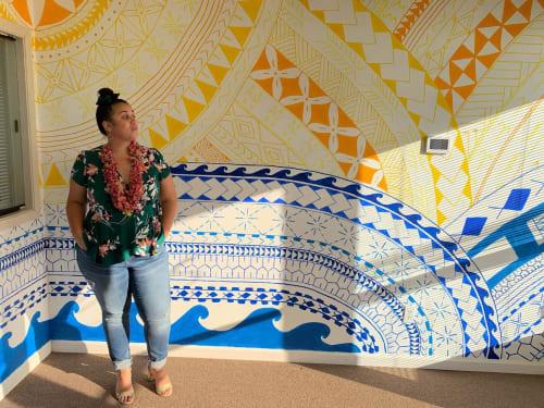 Murals by Afakasi Prints seen at Hayward, Hayward - Pasifika Tatau Mural