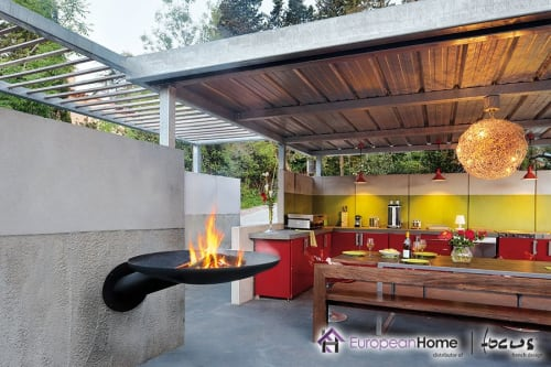 Fireplaces by European Home seen at Private Residence, Middleton - Sunfocus Outdoor Fireplace